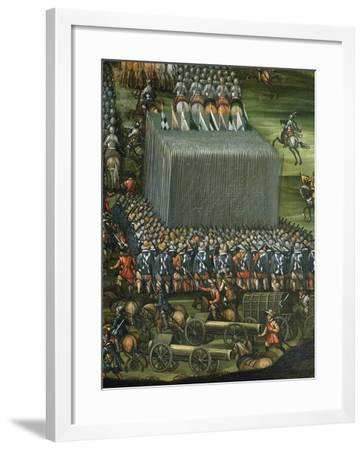 Infantry and Artillery Formation--Framed Giclee Print