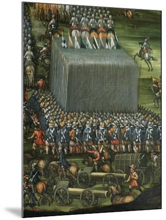 Infantry and Artillery Formation--Mounted Giclee Print