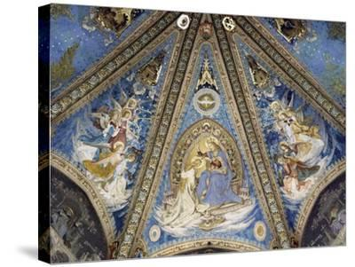 The Annunciation and Angels--Stretched Canvas Print