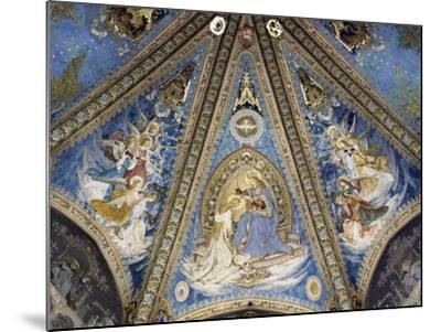 The Annunciation and Angels--Mounted Giclee Print