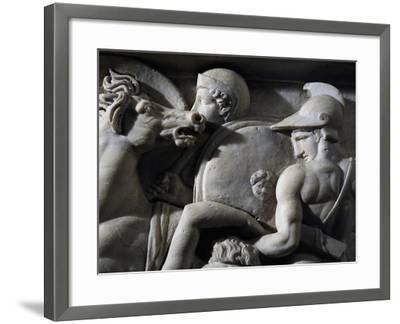 Figures of Greek Soldiers--Framed Giclee Print