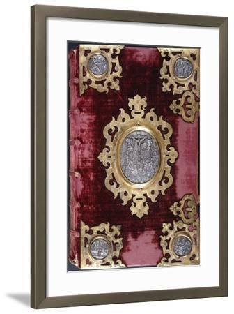 Upper Cover of a German Bible--Framed Giclee Print