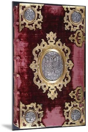 Upper Cover of a German Bible--Mounted Giclee Print