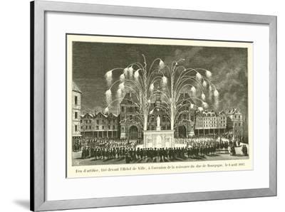 Feu D'Artifice--Framed Giclee Print