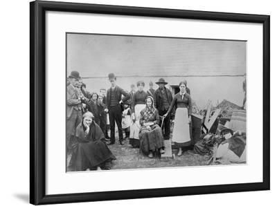 Pat Spellecy and Family--Framed Photographic Print