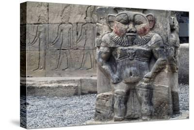 Bas-Relief of God Bes--Stretched Canvas Print
