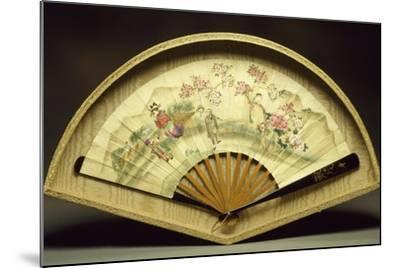 Fan with Wooden Slats--Mounted Giclee Print