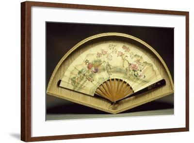 Fan with Wooden Slats--Framed Giclee Print