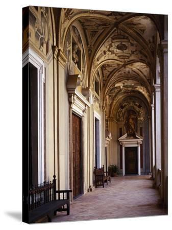 Upper Floor Portico--Stretched Canvas Print