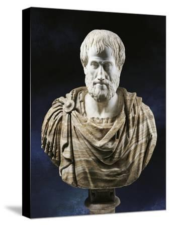 Bust of Aristotle--Stretched Canvas Print