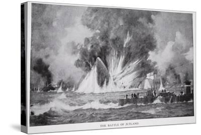 The Battle of Jutland--Stretched Canvas Print