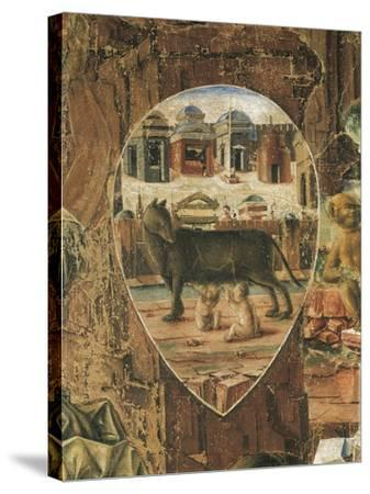 Shield Depicting Romulus--Stretched Canvas Print