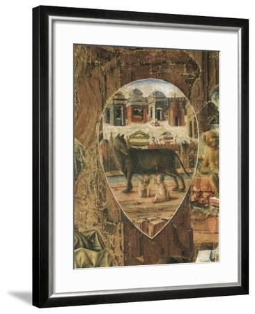 Shield Depicting Romulus--Framed Giclee Print