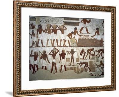 Men at Work--Framed Photographic Print
