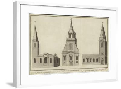 Churches of St Swithin--Framed Giclee Print