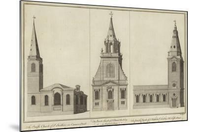 Churches of St Swithin--Mounted Giclee Print