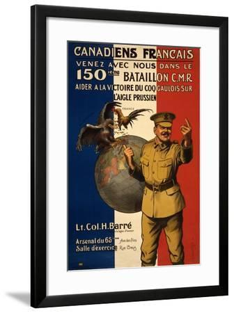 Canadiens Francais--Framed Giclee Print