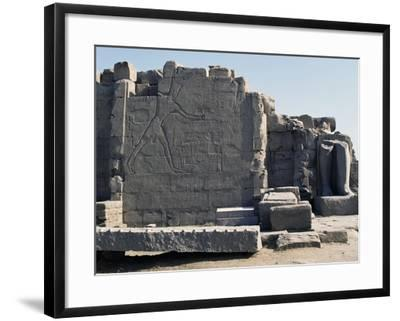 Thutmose III Imprisoning the Hittites, Relief, Rear of the Seventh Pylon, Karnak Temple Complex--Framed Photographic Print