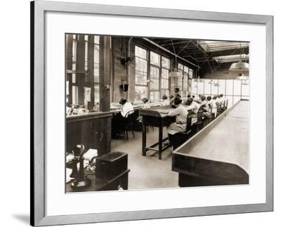 Radium Girls Work in a Factory of the United States Radium Corporation. C.1922--Framed Photographic Print