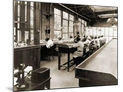 Radium Girls Work in a Factory of the United States Radium Corporation. C.1922--Mounted Photographic Print