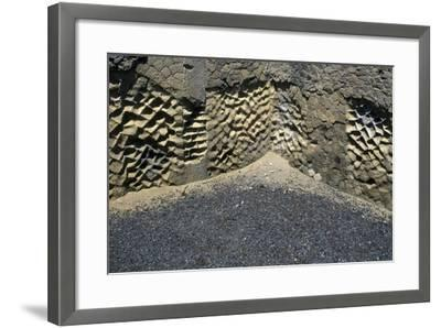 Wall of the House of the Corinthian Atrium, Archaeological Site of Herculaneum--Framed Photographic Print
