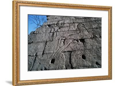 War Wagon, Bas-Relief, Ramesseum, Mortuary Temple of Rameses II, Luxor, Thebes--Framed Photographic Print