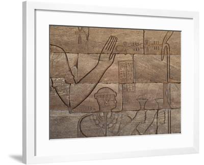 Bas-Relief, Lion Temple, Mussawwarat, Naga, Kingdom of Kush, Island of Meroe--Framed Photographic Print