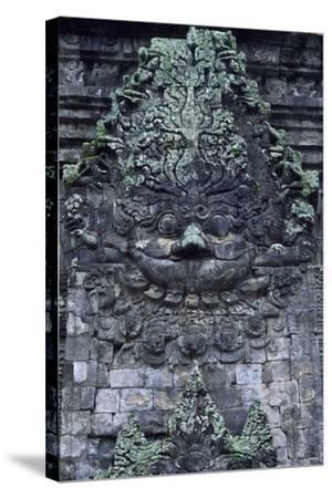 Indonesia, Java, Prambanan, Relief Showing Head of Kala, Near South Gate of Candi Kalasan Temple--Stretched Canvas Print