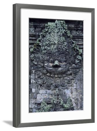Indonesia, Java, Prambanan, Relief Showing Head of Kala, Near South Gate of Candi Kalasan Temple--Framed Photographic Print