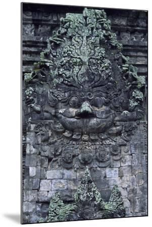 Indonesia, Java, Prambanan, Relief Showing Head of Kala, Near South Gate of Candi Kalasan Temple--Mounted Photographic Print