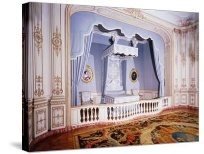 France, Loire Valley, Louis Xiv's Official Bedchamber in Chateau De Chambord--Stretched Canvas Print
