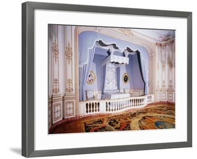 France, Loire Valley, Louis Xiv's Official Bedchamber in Chateau De Chambord--Framed Photographic Print
