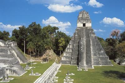 Temple I or Temple of Jaguar, Archaeological Site of Tikal, Tikal National Park--Framed Photographic Print