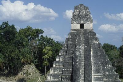 Temple I or Temple of Jaguar, Archaeological Site of Tikal, Tikal National Park--Framed Photographic Print