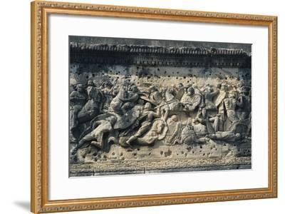 Battle Scene Between the Gauls and Romans, Relief from the Arch of Triumph in Orange--Framed Photographic Print
