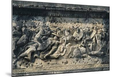 Battle Scene Between the Gauls and Romans, Relief from the Arch of Triumph in Orange--Mounted Photographic Print