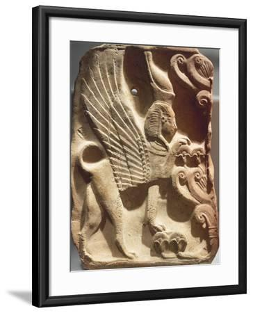 Spain, Madrid, Ivory Plaquette Representing Sphinx and Palm Tree, Found on Ibiza--Framed Photographic Print