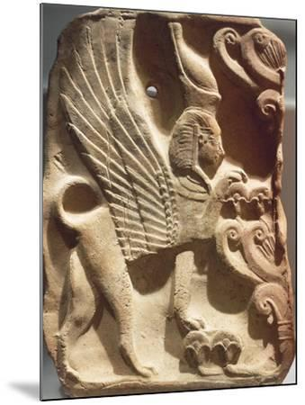 Spain, Madrid, Ivory Plaquette Representing Sphinx and Palm Tree, Found on Ibiza--Mounted Photographic Print
