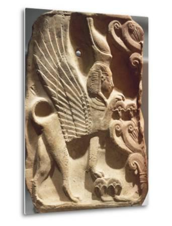 Spain, Madrid, Ivory Plaquette Representing Sphinx and Palm Tree, Found on Ibiza--Metal Print