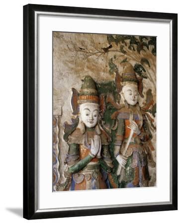 Unrestored Shrines at Nyaung Ohak Monastery, Inle Lake, Shan State, Myanmar--Framed Photographic Print