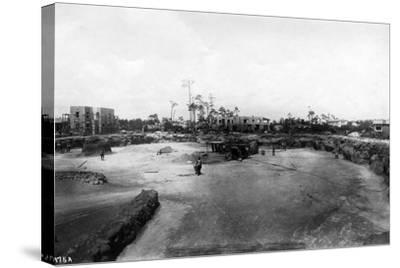 Quarry and Construction at Venetian Pool Site, Coral Gables, Florida, C.1923--Stretched Canvas Print