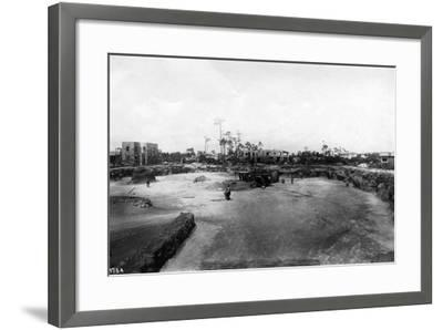 Quarry and Construction at Venetian Pool Site, Coral Gables, Florida, C.1923--Framed Photographic Print
