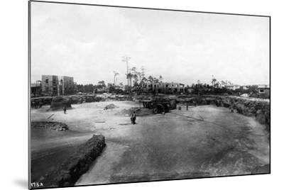 Quarry and Construction at Venetian Pool Site, Coral Gables, Florida, C.1923--Mounted Photographic Print