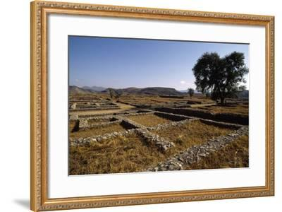 Pakistan, View of Excavations of Ancient Sirkap Archaeological Site of Today's Taxila--Framed Photographic Print