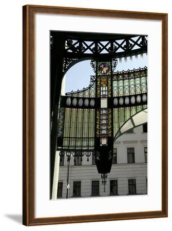 Stained-Glass Decoration of the Municipal House Portal, Prague, Czech Republic--Framed Photographic Print