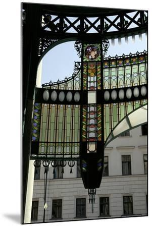 Stained-Glass Decoration of the Municipal House Portal, Prague, Czech Republic--Mounted Photographic Print