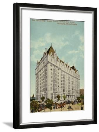 The Fort Garry, Grand Trunk Pacific Railway's New Hotel, Winnipeg, Manitoba, Canada--Framed Photographic Print