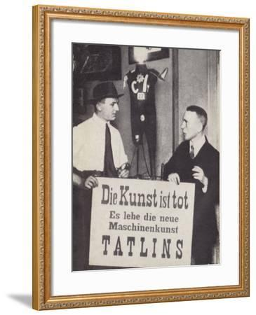 Kasimir Malevich and Vladimir Tatlin at the First International Dada Exhibiiton in June 1920--Framed Photographic Print
