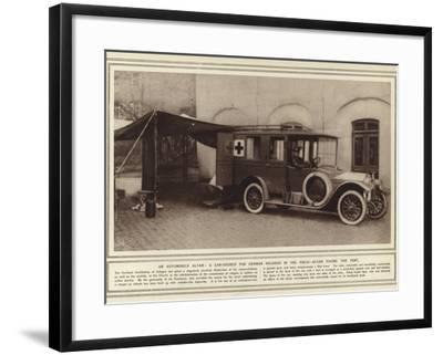 An Automobile Altar, a Car-Church for German Soldiers in the Field, Altar Facing the Tent--Framed Photographic Print