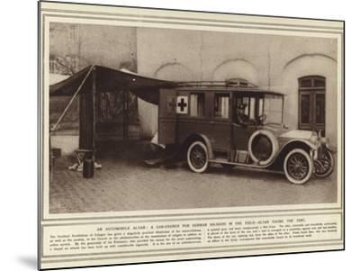 An Automobile Altar, a Car-Church for German Soldiers in the Field, Altar Facing the Tent--Mounted Photographic Print